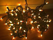 2 strands of candy corn lights in Oswego, Illinois