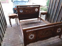 antique bed with 2 nightstands in Ramstein, Germany