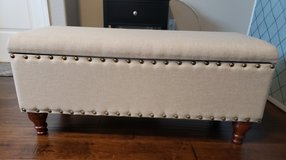 """42"""" Large Rectangle Storage Bench with Nail Head Design in Fairfield, California"""