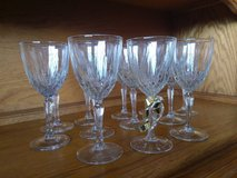 vintage solid crystal vine glasses in 29 Palms, California
