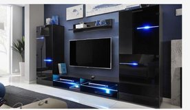 United Furniture - Wall Unit model Modern with LED lights including delivery in Ansbach, Germany