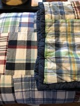 Pottery Barn Madras twin quilt and sham (2 sets) in Westmont, Illinois