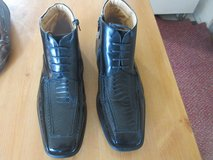 LA MILANO ITALIAN COLLECTION LEATHER MENS DRESS ANKLE BOOTS SHOES ZIP AND LACE in 29 Palms, California