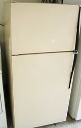 Refrigerator-18 Cubic Foot Off White-Biscuit in color in Byron, Georgia