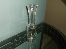 Ribbed clear glass bud vase in Naperville, Illinois