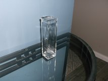 Square clear glass bud vase in Naperville, Illinois