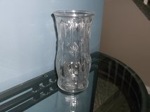 Feather etched clear glass vase in Naperville, Illinois