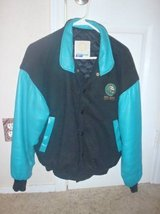 MGM Grand Size Small Turquoise & Black Leather Jacket in Pearland, Texas