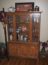 Vintage 1960s solid wood china cabinet in Byron, Georgia