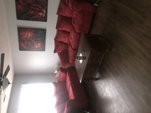 Red couches in Fort Leonard Wood, Missouri