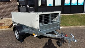 Single Axle Camping Trailer, Gardening Trailer 6x4 750kg Caged incl full cover in Lakenheath, UK