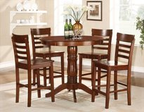 NEW! SOLID WOOD 5PC PUB DINING SET in Camp Pendleton, California