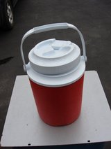 RED / WHITE ONE GALLON INSULATED COLLER in Naperville, Illinois