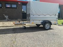 NEW Single Axle Trailer Box Trailer Camping Trailer 208cm x 115cm 750kg in Lakenheath, UK