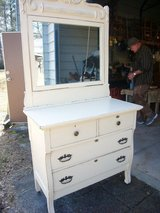 SHABBY CHIC DRESSER WITH MIRROR in Camp Lejeune, North Carolina