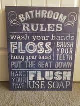 New! Bathroom Rules canvas in Clarksville, Tennessee