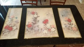 Wall Decor Set of 3 Prints Flowers & Butterflies in Naperville, Illinois
