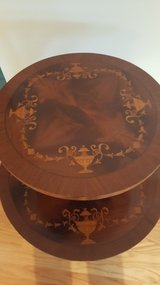 Inlaid Wood 2 Tier Table in Westmont, Illinois