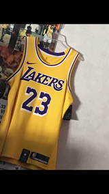 Lebron James LAKER Home Jersey tag still on in Fort Knox, Kentucky
