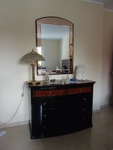 Lady's dresser - curved chest of drawers with mirror made in Italy in Stuttgart, GE