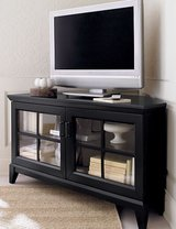 Crate and barrel corner TV stand in Kingwood, Texas