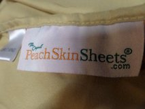 """Gold Peach Skin Sheets Split King Sheets 2) 80"""" long fitted in Alamogordo, New Mexico"""