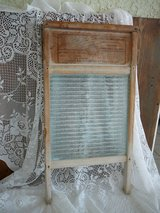 Washboard, antique, glass & wood in Yucca Valley, California