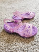 Purple Crocks shoes toddler sz 8 in Fort Campbell, Kentucky
