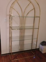 Gold Metal Display w/Glass Shelves in Algonquin, Illinois