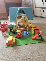 Little Tikes Vintage Blue Dollhouse Complete With Furniture! in Aurora, Illinois