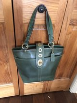 Coach Green Leather Legacy Handbag Purse with Turn Lock - Never Used! in Naperville, Illinois
