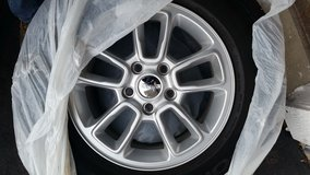 "Set of 4 / 17"" Jeep Grand Cherokee wheels and tires like new/ used only 3,400 miles. reduced price in Naperville, Illinois"