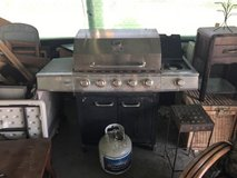 Backyard grill with tank in 29 Palms, California