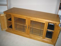 """Solid oak 61"""" TV stand and media center in Westmont, Illinois"""