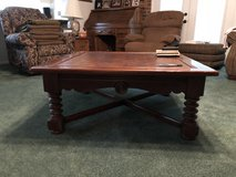 Large square oak coffee table in Fort Polk, Louisiana