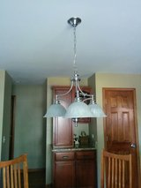 Like New Brushed Nickel 3 light Chandelier -reduced! in Oswego, Illinois
