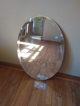 Beveled Oval Bathroom Mirror -Perfect condition! in Oswego, Illinois