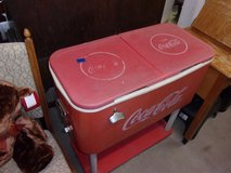 Coca Cola Cooler on Stand in Fort Riley, Kansas