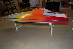 Large scale RC boat hull in Naperville, Illinois