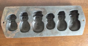 Vintage  Cast Iron Snowman Cookies/ Cake Mold in Okinawa, Japan