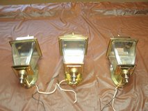 3 Matching Brass Carriage Lamps in Glendale Heights, Illinois