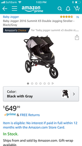 Baby Jogger x3 summit double stroller in Okinawa, Japan