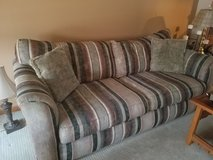 Couch and large chair,  2 pillows in Naperville, Illinois
