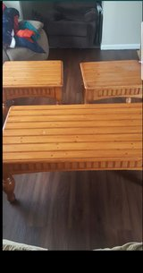 Wooden Coffee table and 2 side tables in Yorkville, Illinois