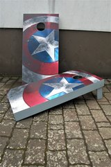 Captain America Cornhole game with 8 corn bags in Ramstein, Germany
