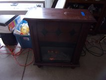 Two Room Electric Fireplace in Wooden Case in Fort Riley, Kansas