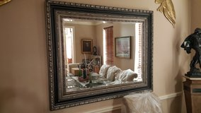 CLASSIC ITALIAN LARGE BEVELED WALL MIRROR IN EXCELLENT CONDITION in Houston, Texas