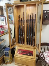 Oak 8 Gun Display Cabinet in Fort Leonard Wood, Missouri