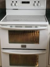 Ceramic cooktop  double oven electrical range in Chicago, Illinois