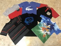 Like New Size8 Boys Lacoste, No Fear, Sonic, BuzzCuts Shirts in Okinawa, Japan